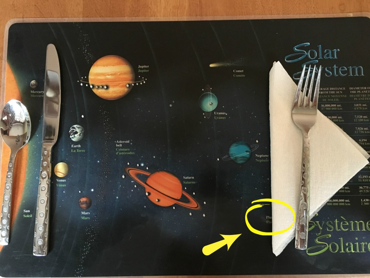 Confessions Solar System Placemat
